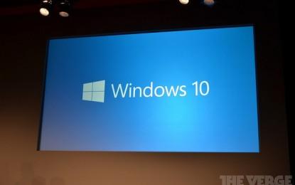 เหนือชั้นกว่า Windows รุ่นหน้าจะมีชื่อว่า Windows 10
